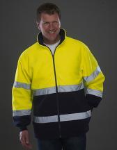 High Visibility 2 Bands 2-Tone Fleece Jacket
